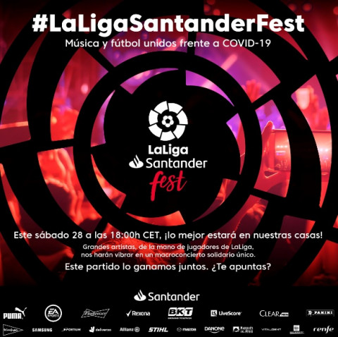 LaLiga unirá fútbol y música en festival virtual de caridad