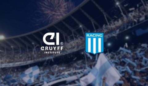 Racing Club se asocia con Johan Cruyff Institute para ofrecer a sus jugadores y staff formación académica en gestión deportiva